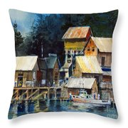 Reflections At Waters Edge Throw Pillow