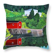 Reflections Throw Pillow by Barbara Griffin