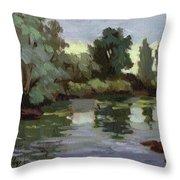 Reflections Duwamish River Throw Pillow