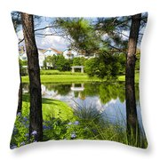 Reflections In A Tranquil Pond Throw Pillow