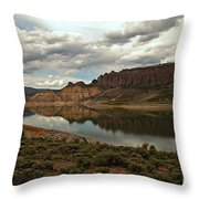 Reflections In Blue Mesa Throw Pillow