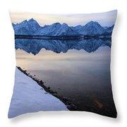 Reflections In Jackson Lake Throw Pillow