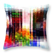 Reflections In Technicolor Throw Pillow