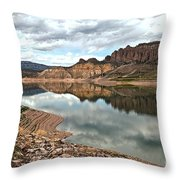 Reflections In The Blue Mesa Throw Pillow