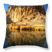Reflections In The Crooked River Throw Pillow