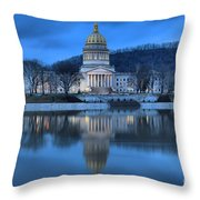 Reflections In The Kanawha River Throw Pillow