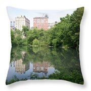 Reflections In The Pool Throw Pillow