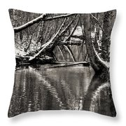 Reflections In The Snow Throw Pillow
