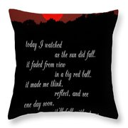 Reflections In Twilight Throw Pillow