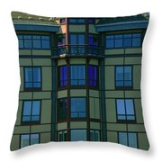 Reflections In Windows Throw Pillow