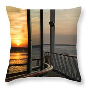 Reflections Of A Chesapeake Sunset Throw Pillow