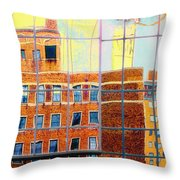 Reflections Of A City Throw Pillow