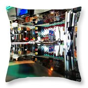 Reflections Of A Diner 3 Throw Pillow