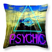Reflections Of A Psychic Throw Pillow
