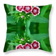 Reflections Of A Summer Bouquet Throw Pillow