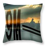 Reflections Of A Sunset Flight Throw Pillow