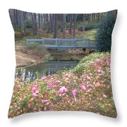 Reflections Of A Walking Bridge Throw Pillow