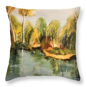 Reflections Of Age Thirteen Throw Pillow
