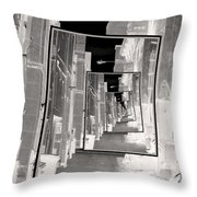 Reflections Of An Infrared Alley Throw Pillow