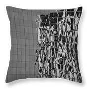 Reflections Of Architecture In Balck And White Throw Pillow