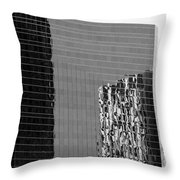 Reflections Of Architecture In Black And White Throw Pillow