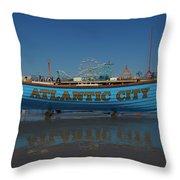 Reflections Of Atlantic City Throw Pillow