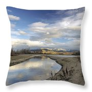 Reflections Of Dancing Clouds Throw Pillow