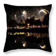 Reflections Of Epcot Throw Pillow