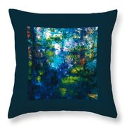 Reflections Of Fish Throw Pillow