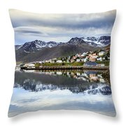 Reflections Of Iceland Throw Pillow