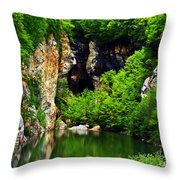Reflections Of Mine Throw Pillow