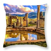 Reflections Of Past Glory Throw Pillow