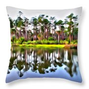 Reflections Of Pines Throw Pillow