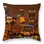Reflections Of Pittsburgh Throw Pillow