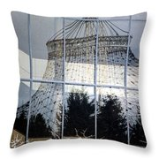 Reflections Of Riverfront Park Throw Pillow