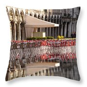 Reflections Of Saint Mark's Square -day Throw Pillow