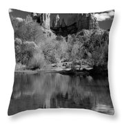 Reflections Of Sedona Black And White Throw Pillow