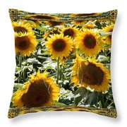 Reflections Of Sunflowers Throw Pillow