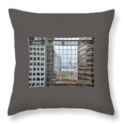 Reflections Of The Capitol Building In Denver Colorado Throw Pillow