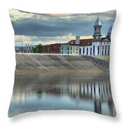 Reflections Of The Courthouse Throw Pillow