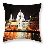 Reflections Of The Danube Throw Pillow