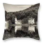 Reflections Of The Day Black And White Throw Pillow