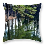 Reflections Of The Pine Throw Pillow