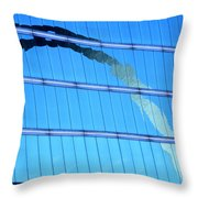 Reflections Of The St Louis Arch Throw Pillow