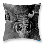 Reflections Of The Wild Negative Throw Pillow