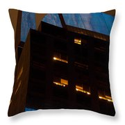 Reflections Of Times Square Throw Pillow