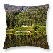 Reflections Of Vail Throw Pillow