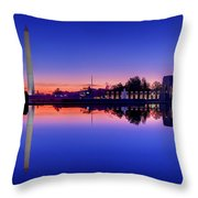 Reflections Of World War II Throw Pillow