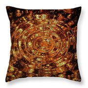 Reflections Of Yellow Throw Pillow