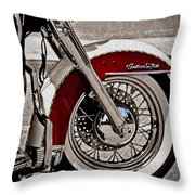 Reflections On A Motorcycle Throw Pillow